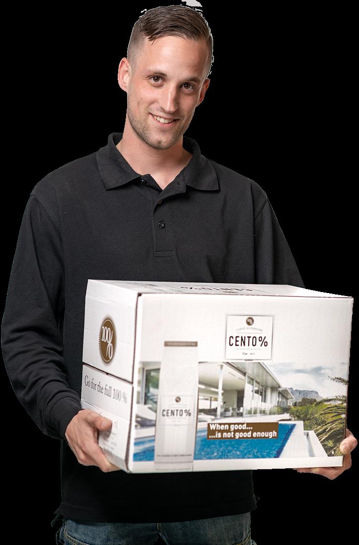 Bezorging | Bezorgdienst| bezorging tot aan het keukenkastje | KoffiePartners