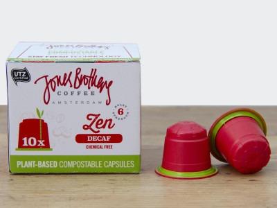 Jones Brothers Coffee Zen Decaf koffiecapsules | KoffiePartners