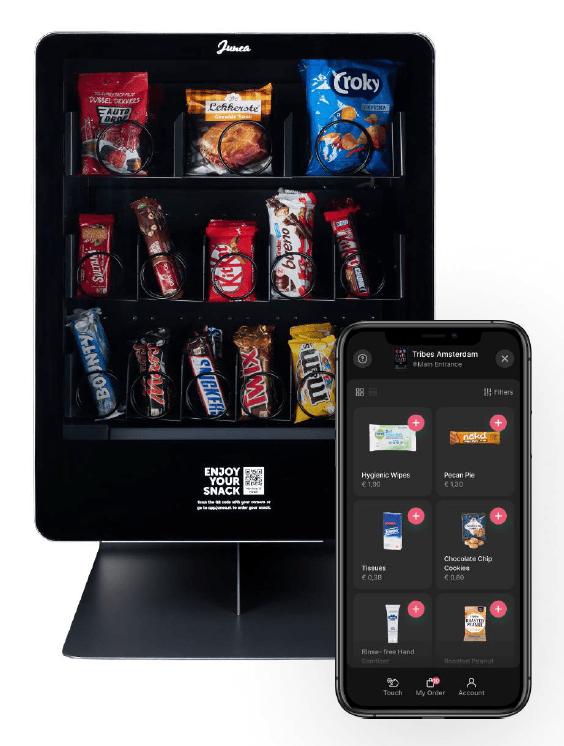 Junea Snacks   Compacte vendingmachine   KoffiePartners